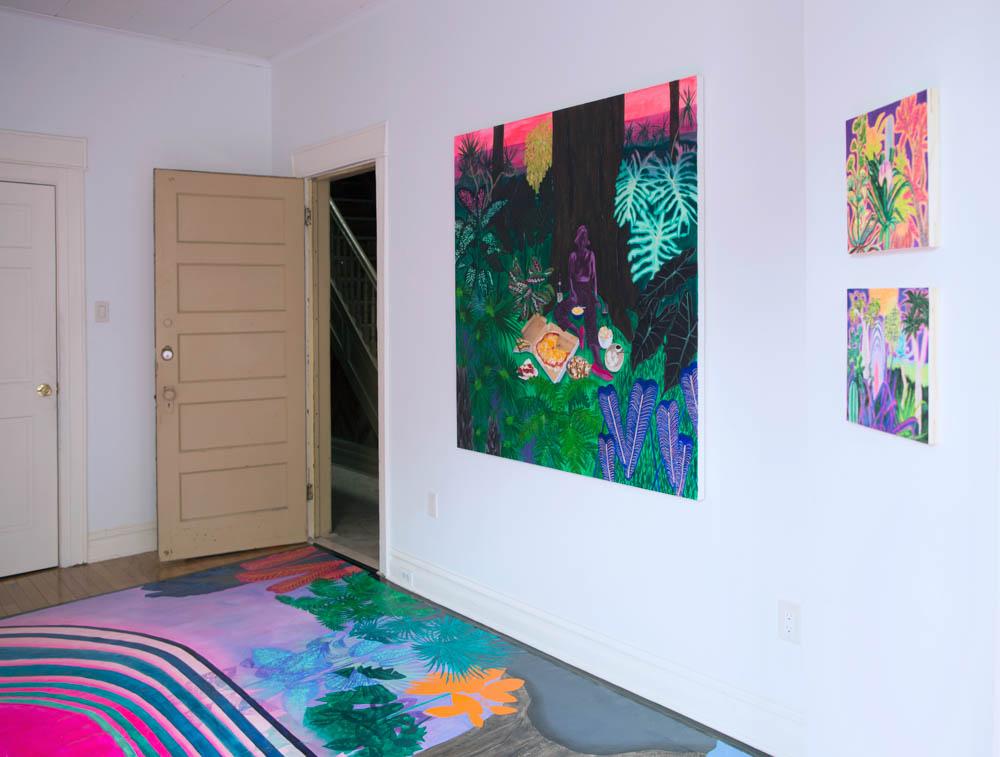 Kelsey's recent solo show  Recreation Room  at Brethren Gallery in Ridgewood, Queens.