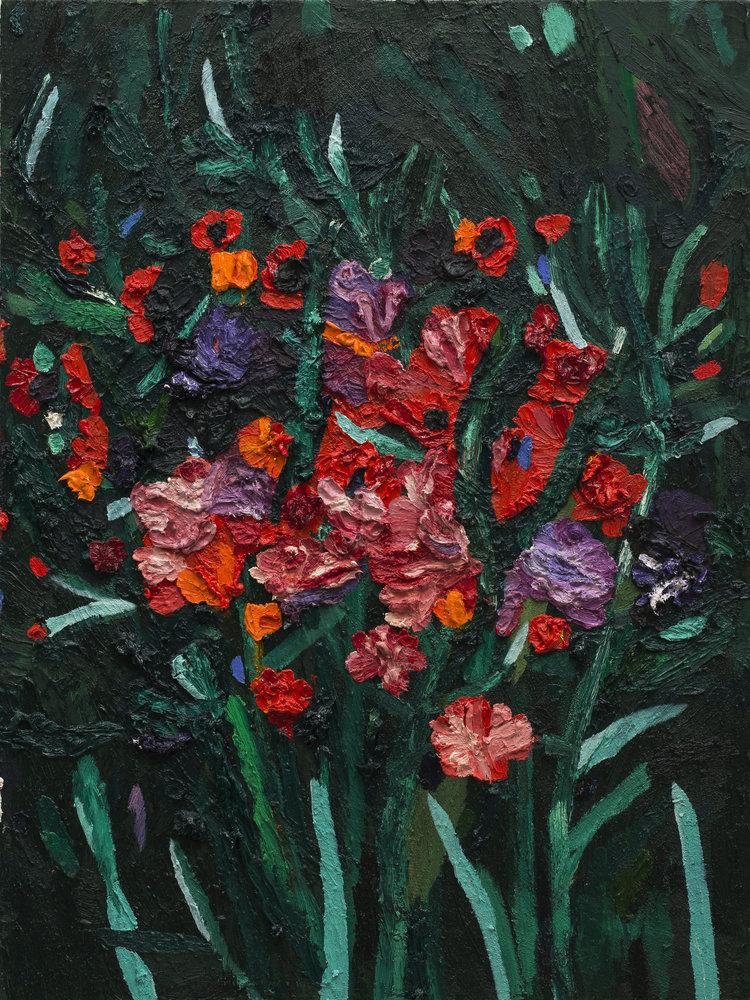 Emilia Olsen  New Mexico , 2018 Oil, acrylic, pumice medium on canvas 40 x 30 in.