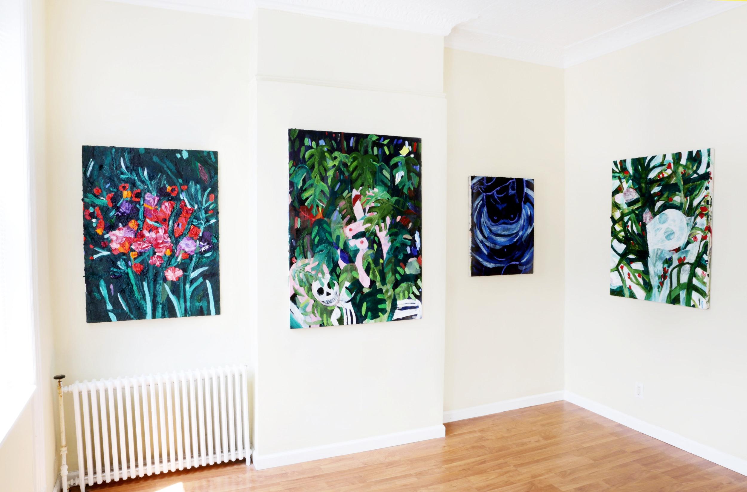 Installation shot: Emilia Olsen,  Death & The Maiden ,  Doppelgänger , 2018