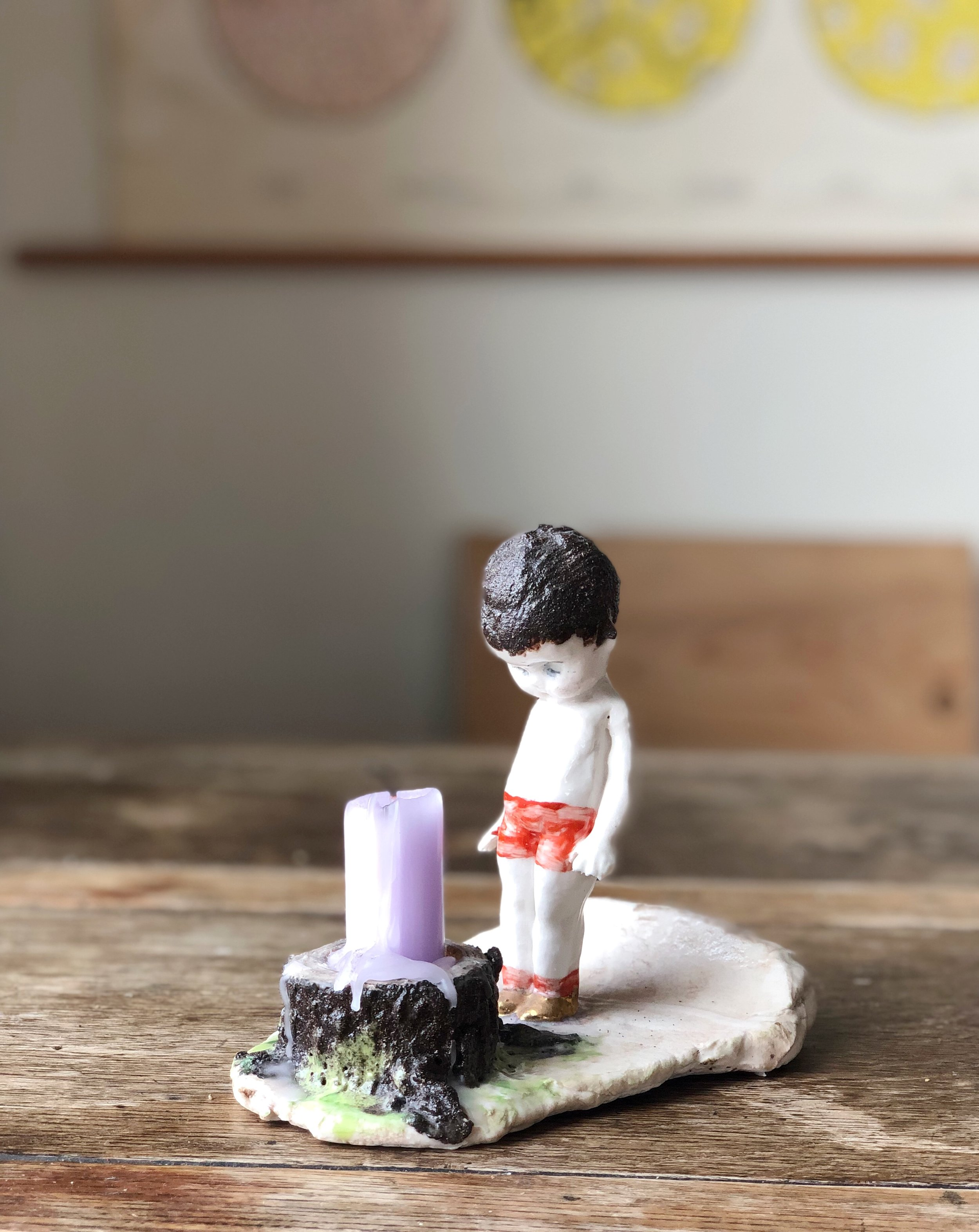 Candlestick holder Boy by Swedish artist Maria Boij