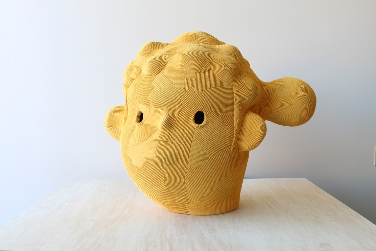 Golden Girl , 2018 Ceramic 27 x 31 x 23 inches