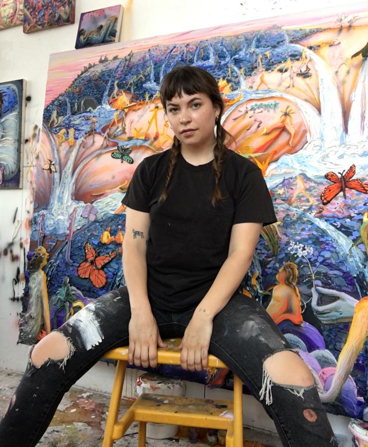 Kate in the studio
