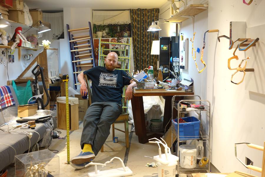 Eliot in this Brooklyn studio