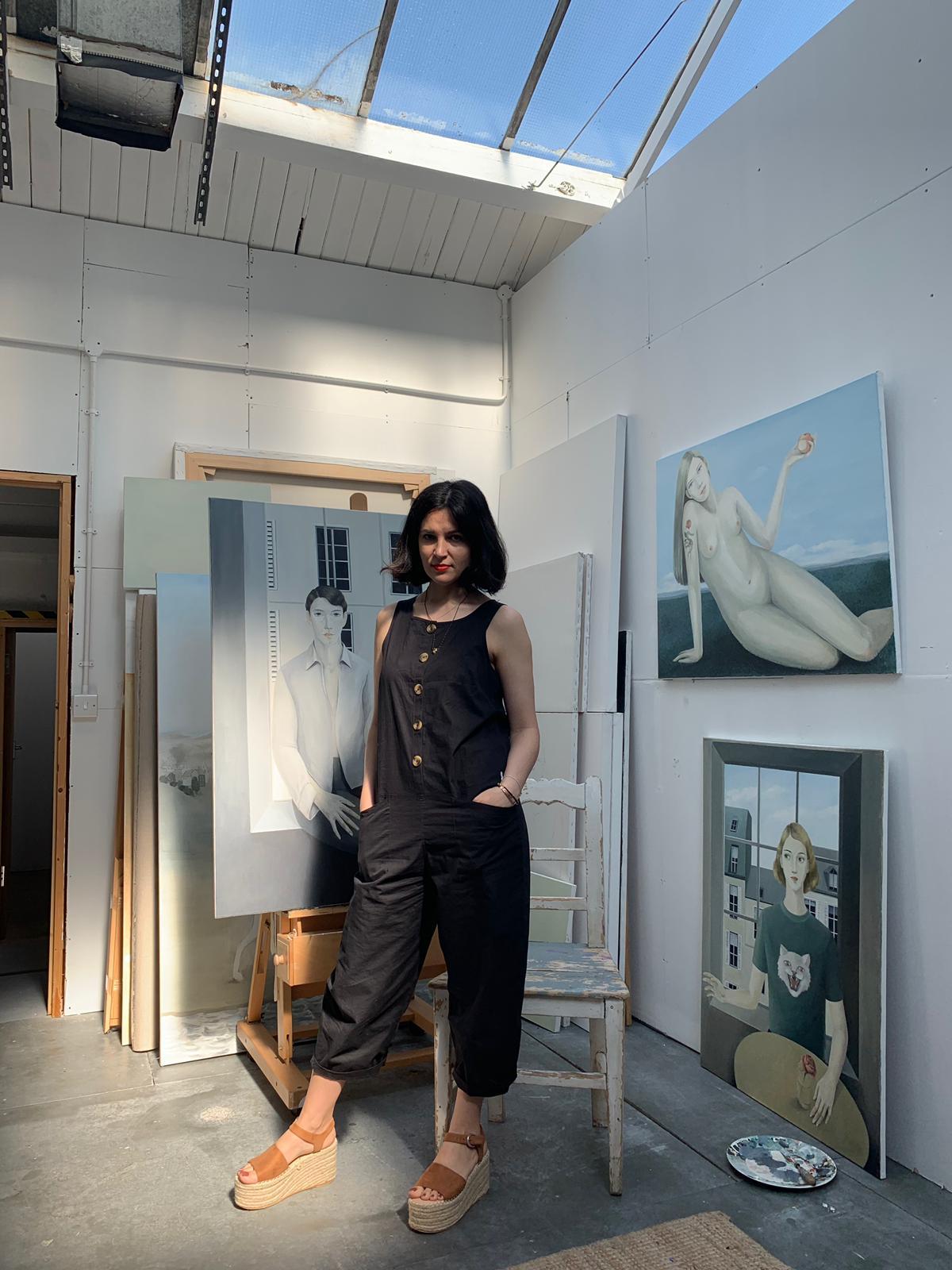 Serpil in her studio at ASC Studios in Kingston.