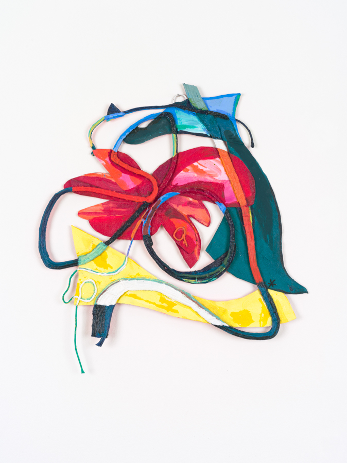 Space Flower, 2018, Acrylic on canvas and cotton rope, 33 x 30_ (Maake) _.jpg