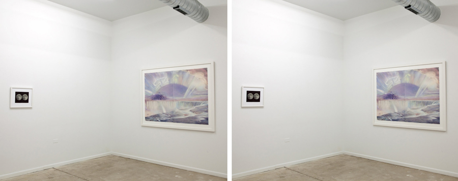 Seeing Things  exhibition at Thoms Robertello Gallery, Stereo photo by Mary Robnett