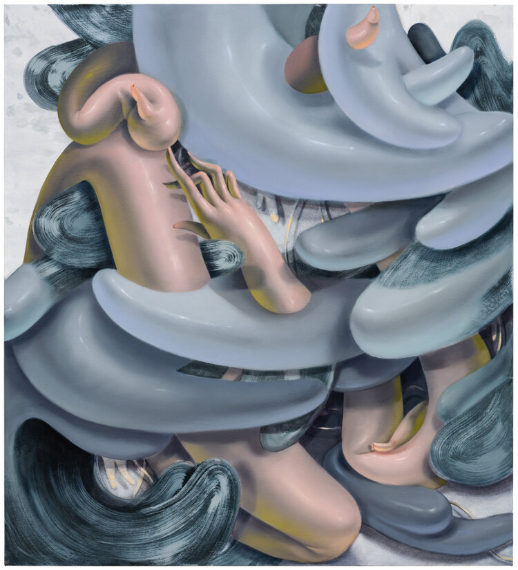 Grey Cloud , oil on canvas, 2019, 64 x 58 inches