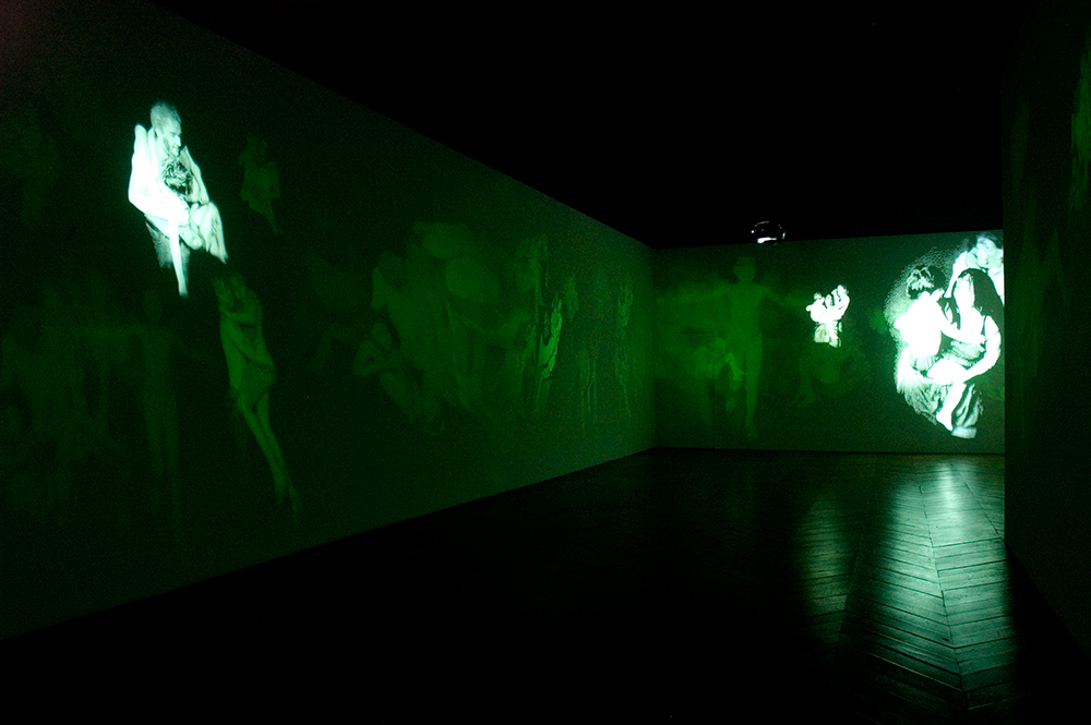 Mat Collishaw</strong><br><i>Deliverance </i><br>2007<br>Installation view Spring Projects, London
