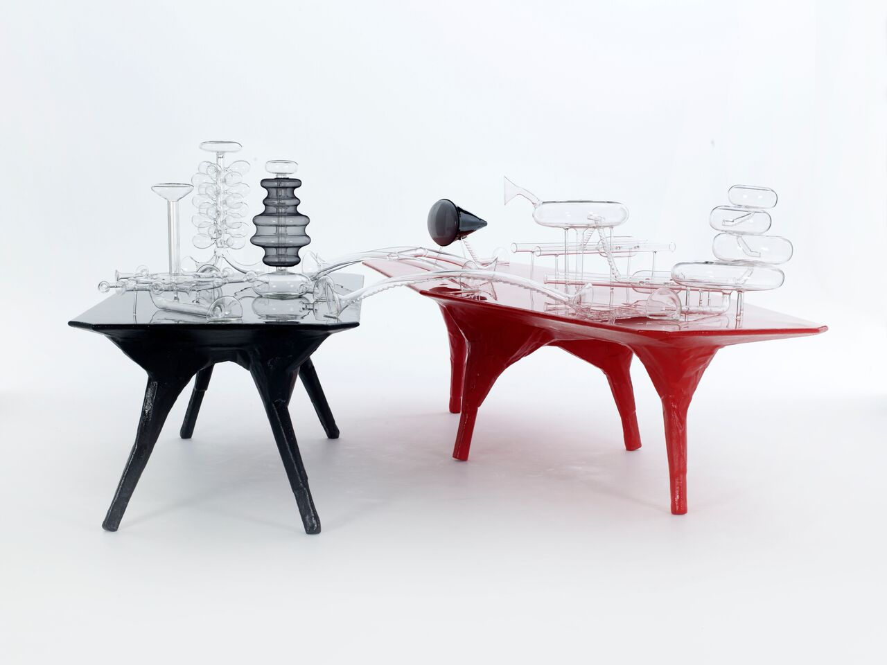 El Ultimo Grito<br><i>Free Range</i> (tables)<br><i>Imaginary Architectures</i> (glass) <br>2011<br> Commissioned and exhibited at Spring Projects, London