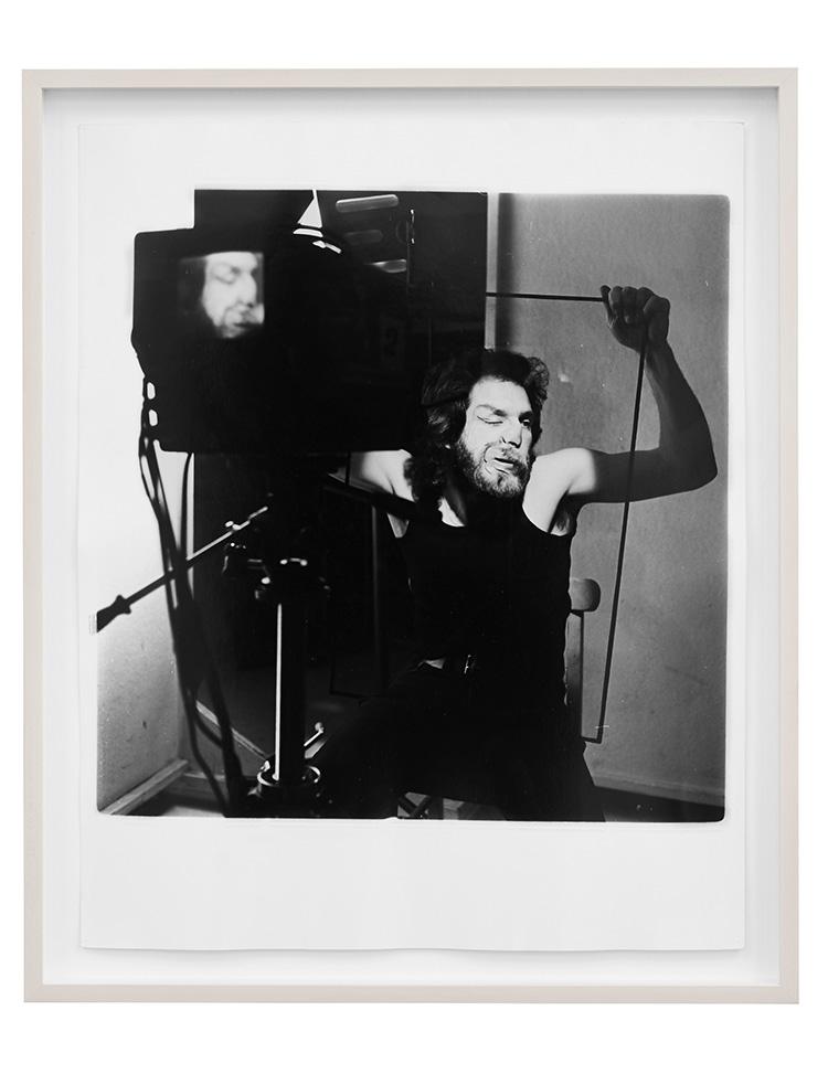 Denis Masi   Lip Smear 2  Performance for the camera 1970 Black & white photograph 56.5cm x 47cm x 4cm