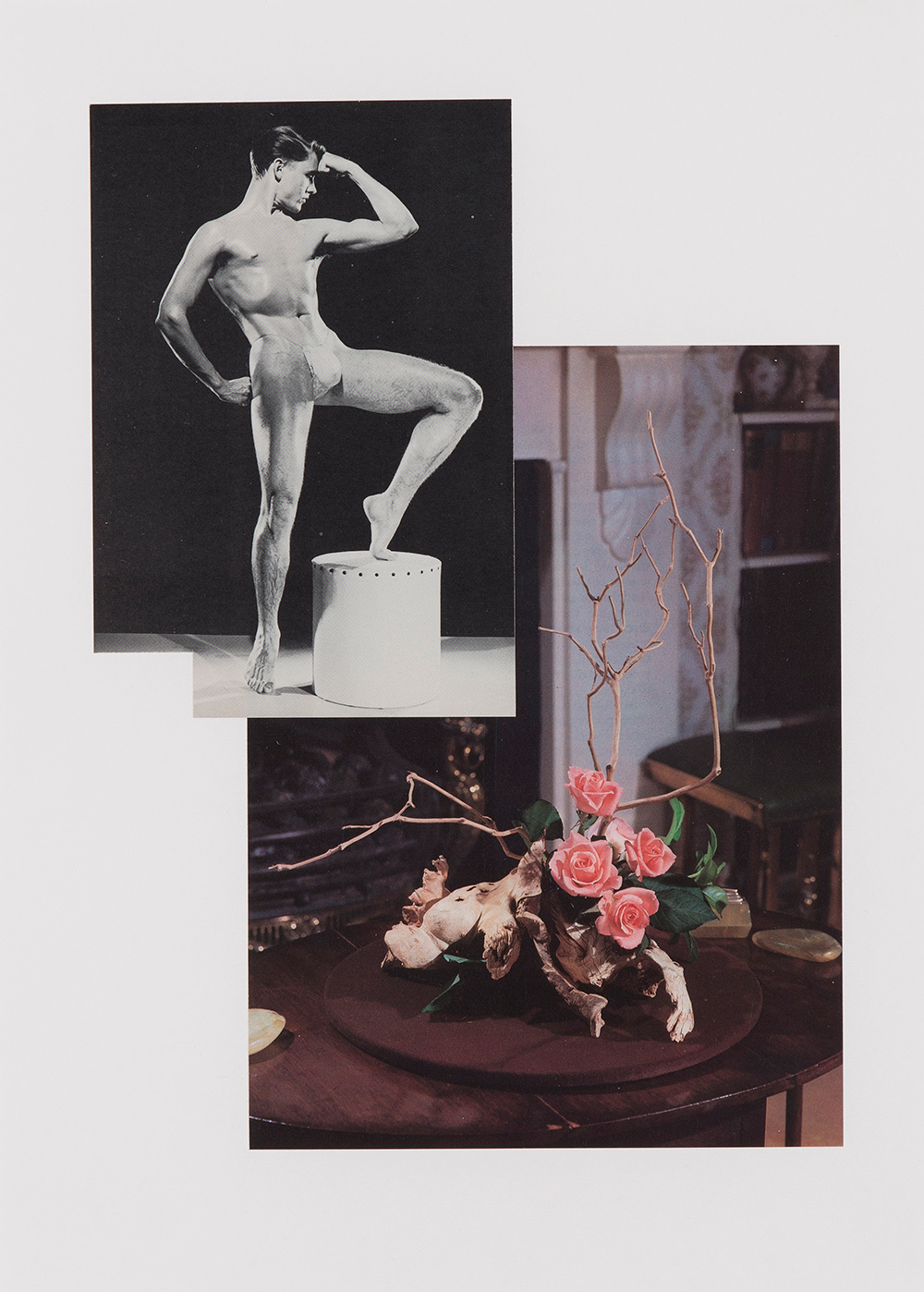 Simon Moretti   Untitled (Composition with Roses)  2012 Collage 58.4 x 46.2 cm Unique