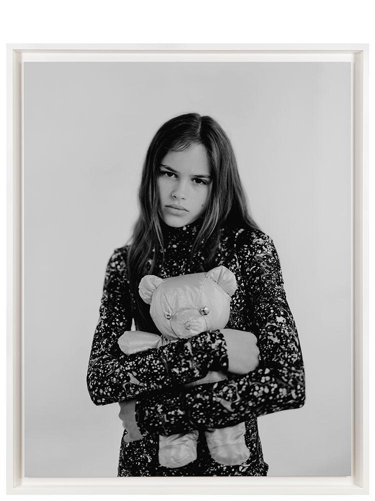 Marcus Tomlinson   Candice in Rifat Ozbek  1996 Inkjet archival print 129 x 105 cm