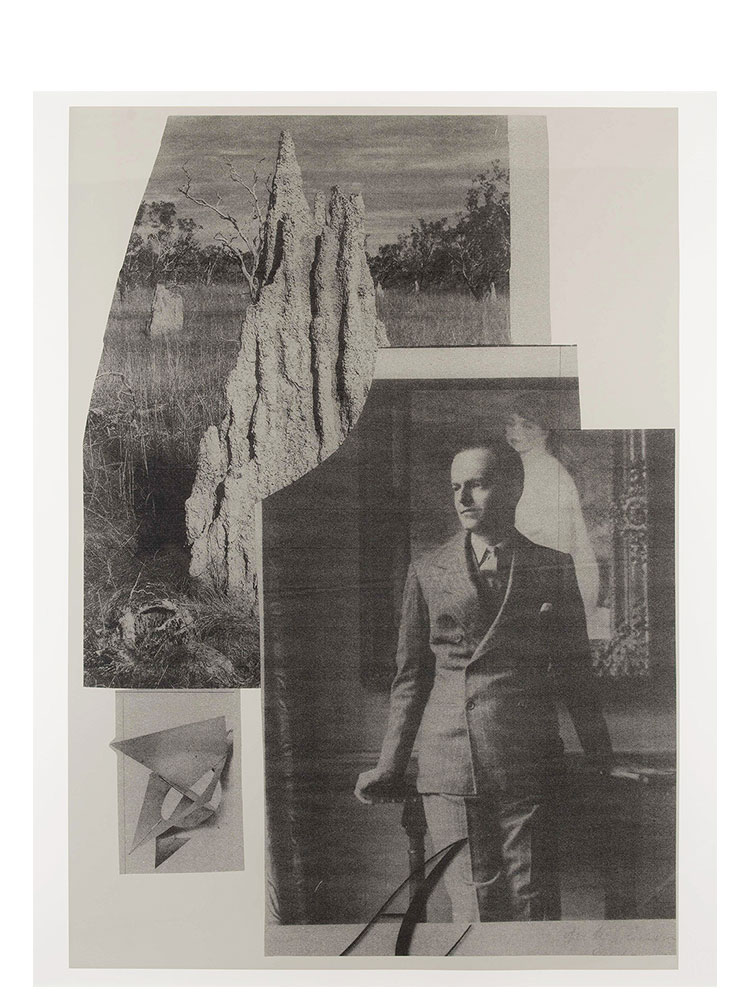 Simon Moretti   Untitled (to Kenneth Clark)  2014 Screen print  h162.4 x w132.5 cm Edition of 3 + 2 AP