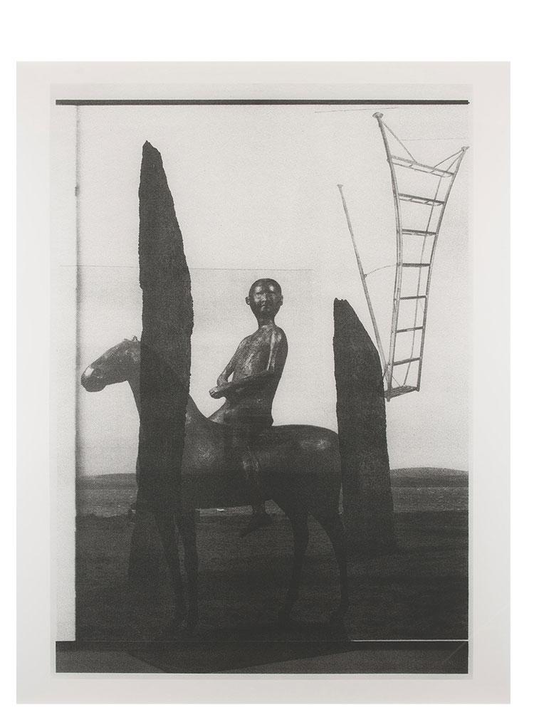 Simon Moretti   Untitled (Rider, after Marino Marini)  2014 Screen print h162.4 x w132.5 cm Edition of 3 + 2 AP