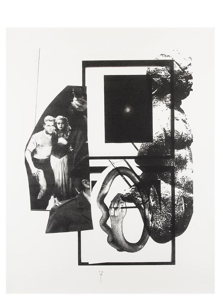 Simon Moretti   Untitled (Flash Gordon Kabbalah)  2014 Screen print h162.4 x w132.5 cm Edition of 3 + 2 AP