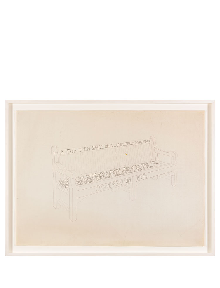 Rose Finn-Kelcey   Untitled bench drawing #2  C. 1970s Pencil on paper W 84.3 x H 63 x D 3.8 cm Unique