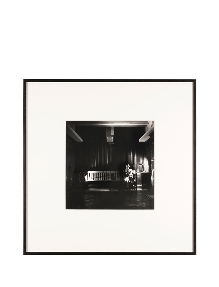 Rose Finn-Kelcey    The Boilermaker's Assistant   1978 Documentation photograph Black and white photograph W 51.5 x H 52.5 x D 3 cm Series of 2
