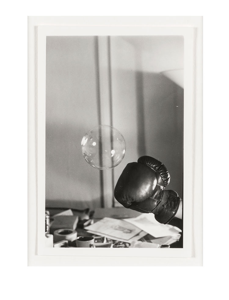 Rose Finn-Kelcey   Untitled :Boxing glove and bubble #4   C.1970s Black and white photograph W 33.5 x H 38 x D 3 cm Unique
