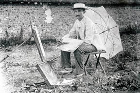 Guy Rose in Giverny, c.1890; Courtesy of The Rose Family Archives and The Irvine Museum