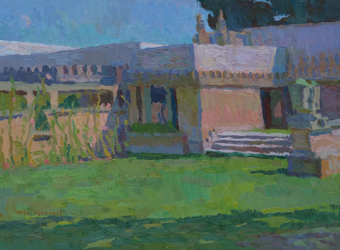 "Frank Lloyd Wright's Hollyhock House, 12"" x 16"", © Eric Merrell"