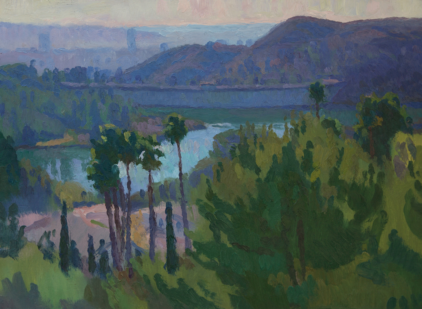"Hollywood Reservoir, 12"" x 16"", © Eric Merrell"