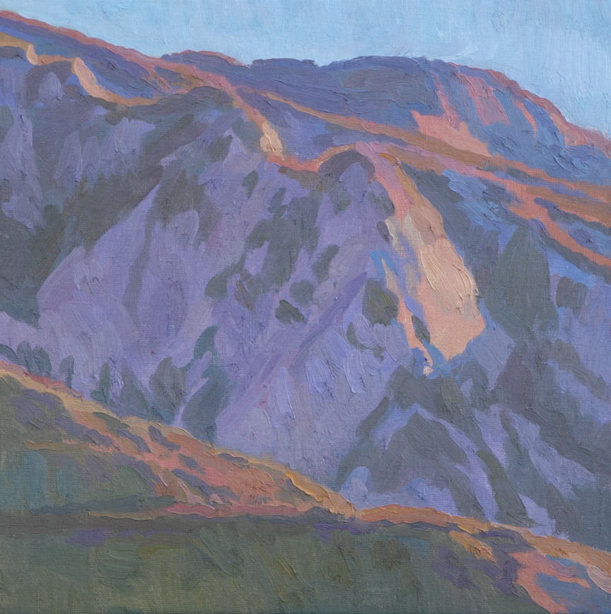 "Evening Crumbles into the Hills, 12"" x 12"" © Eric Merrell"