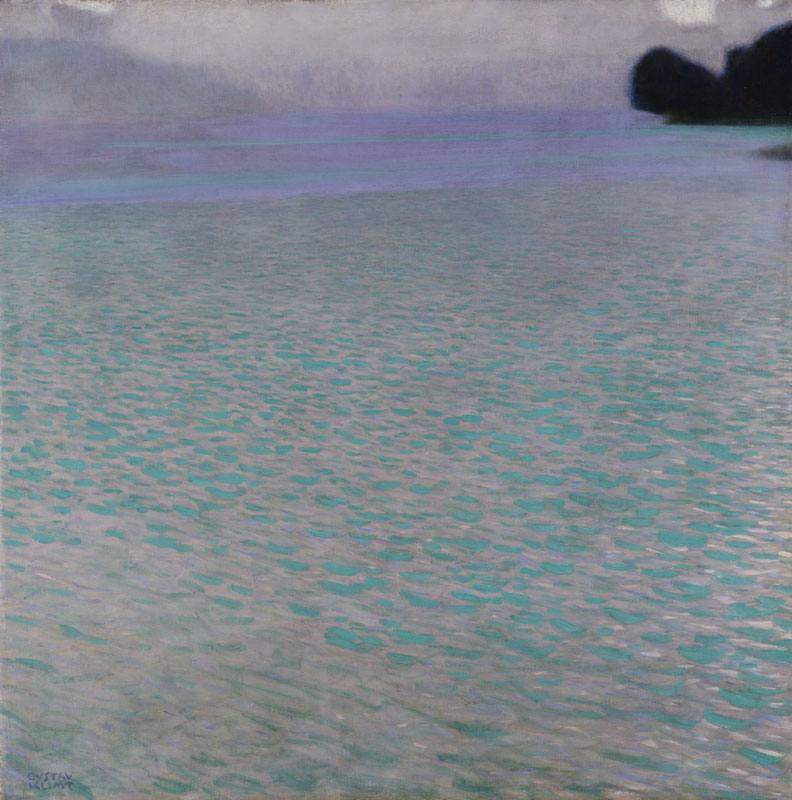 "Gustav Klimt (1862-1918),  Attersee , 1901, Oil on canvas, 31.57"" x 31.57"" Leopold Museum, Vienna"