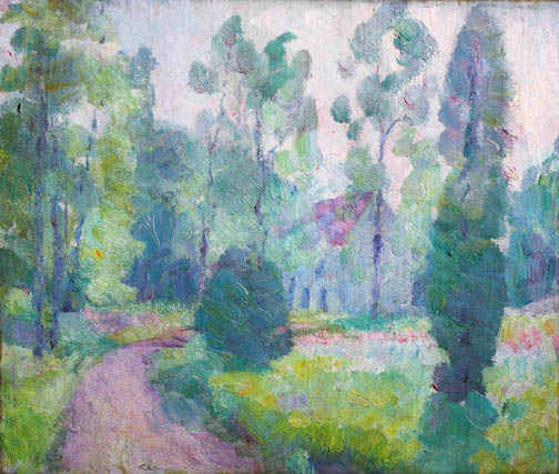 Paul Jean Martel (1878-1944),  House in the Trees , 1924
