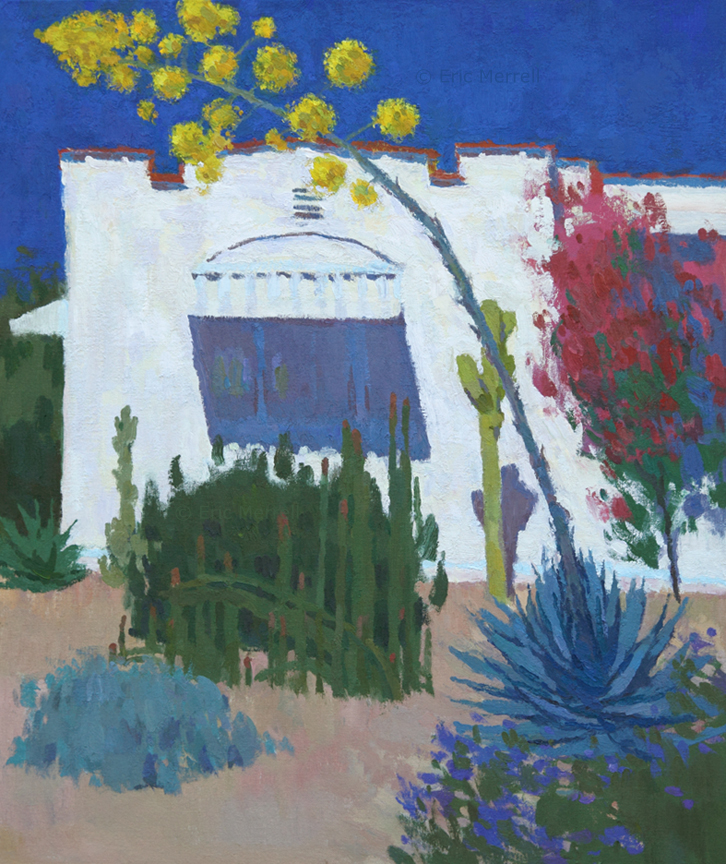 The Two Artists' House: Flowering Agave