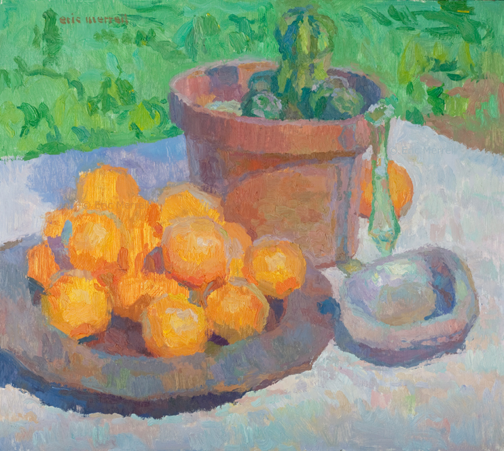 Still Life with Oranges and Abalone Shell