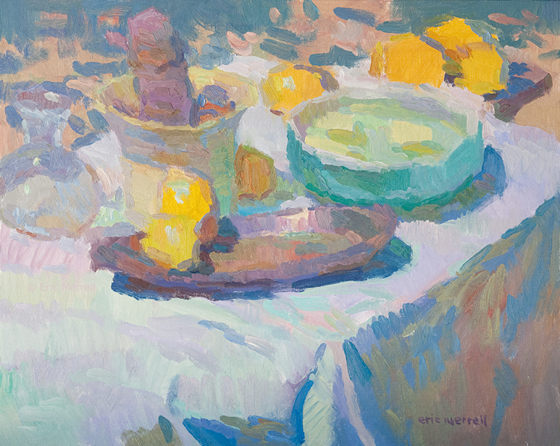 Still Life with Lemons and Green Bowl