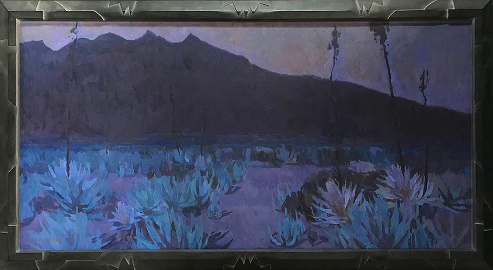 Eric Merrell, The Sharpened Darkness, 24x48