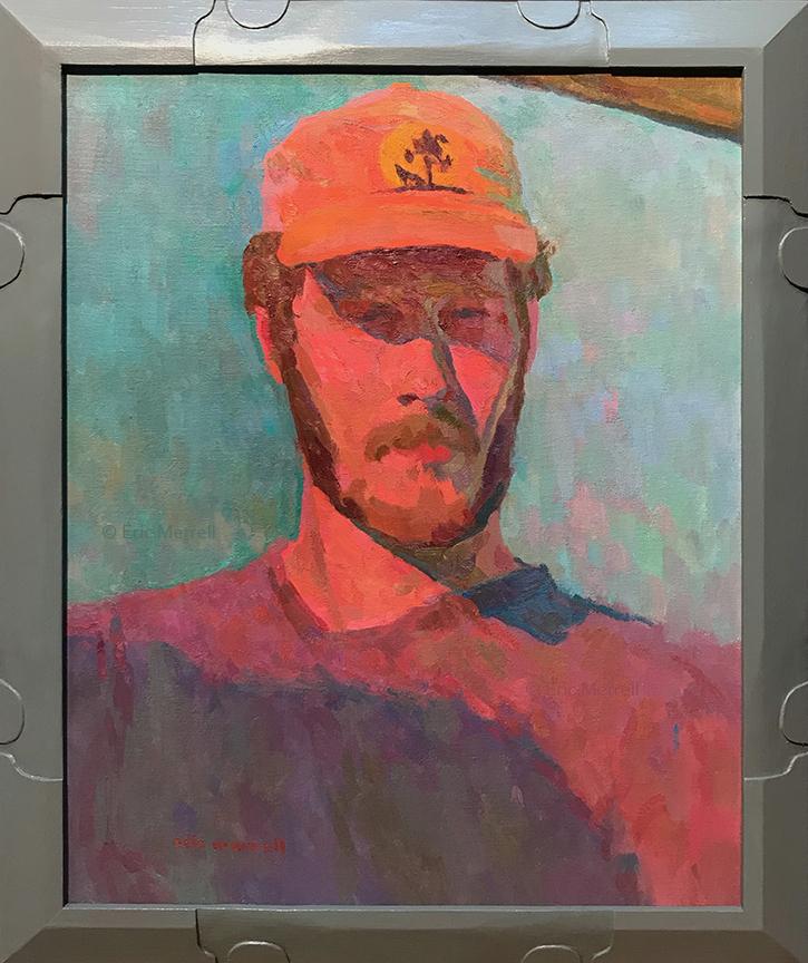 Self-Portrait at Sunset, 20x16