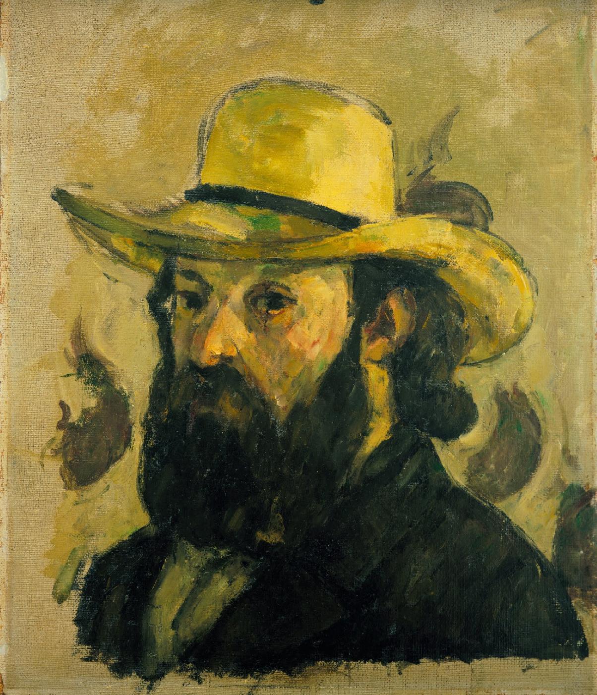 Paul Cézanne, Self-Portrait in a Straw Hat, 1875-6, MOMA