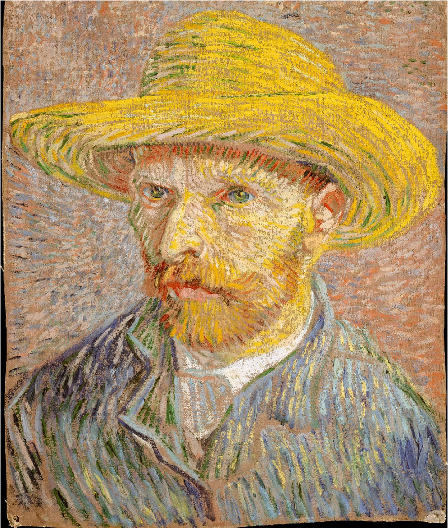 Vincent Van Gogh, Self-Portrait with a Straw Hat, 1887, MOMA