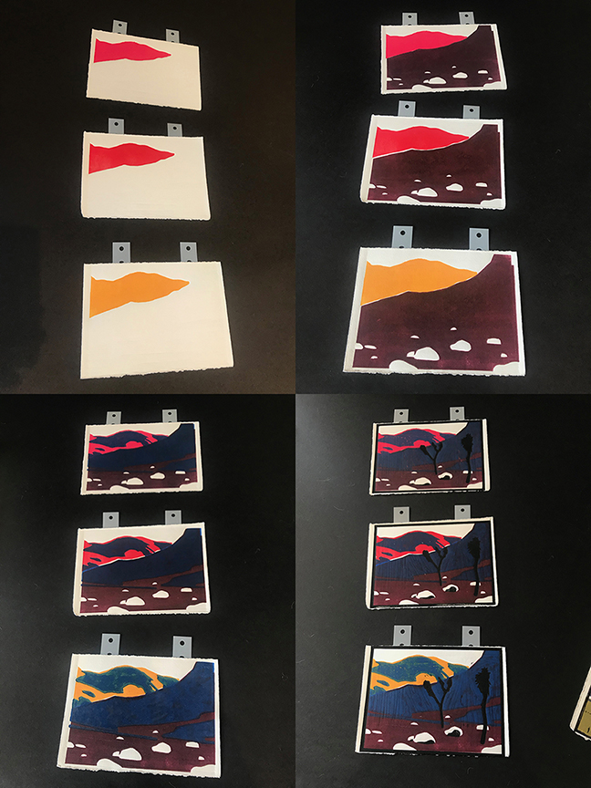 Early color and registration tests