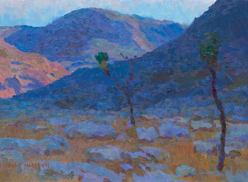 Realm of the Desert Tortoise, 12x16, 2009 (Private collection). A nearby resident who studies and photographs wildlife told me at the time of my Joshua Tree residency that this area had one of the highest concentration of desert tortoise burrows he'd ever encountered. It is now protected from development.