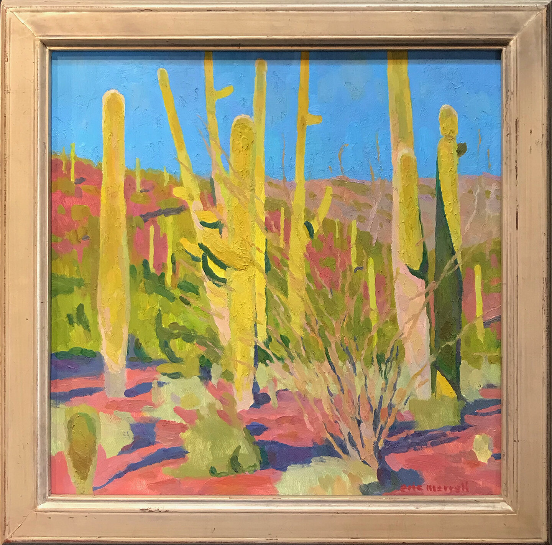 "Saguaro Forest, 16"" x 16"""