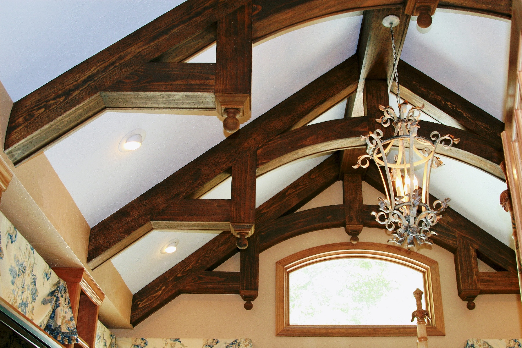 Room addition with custom rafters