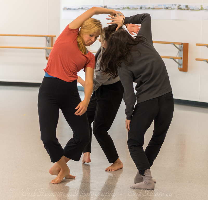 in rehearsal (kate, meredith, felicia)Photo by Erik zennstrom