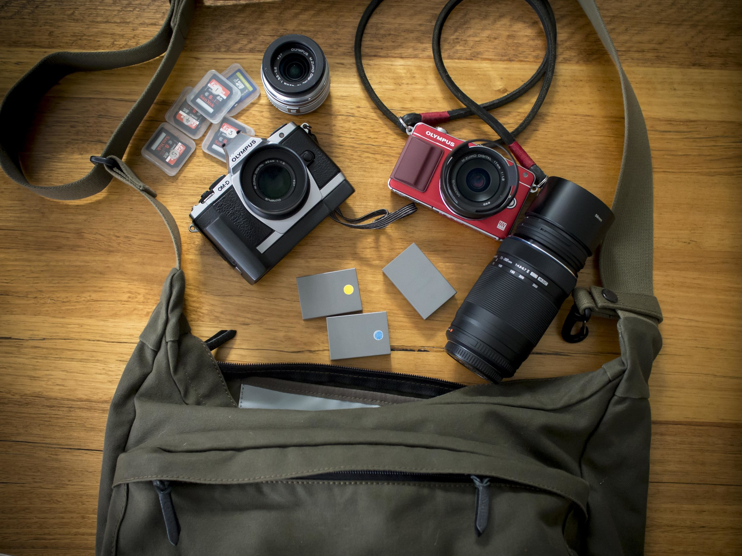 Note the small strap clip that holds the camera strap secure and straight. This bag hold heaps, so it is ideal for shopping day trips.