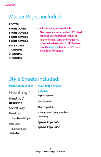 Pattern Design Template - for Adobe inDesign CC — Page + Pixel