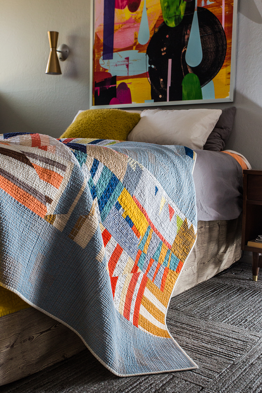 Quilt Top Pieced by Janice Zeller Ryan, Blocks made by members of the LAMQG, Quilted by Melissa Richie