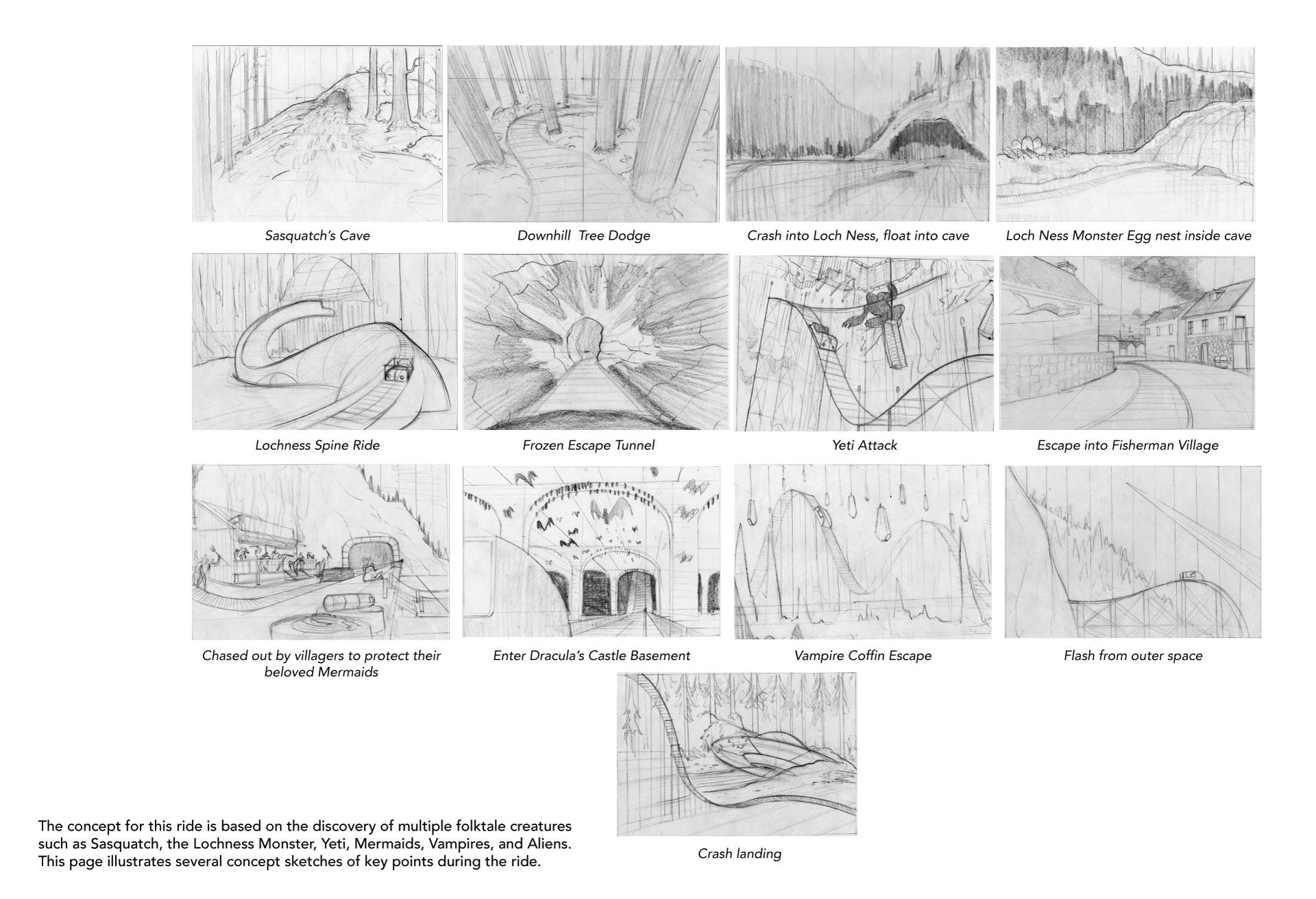 Roller Coaster Concept Sketches