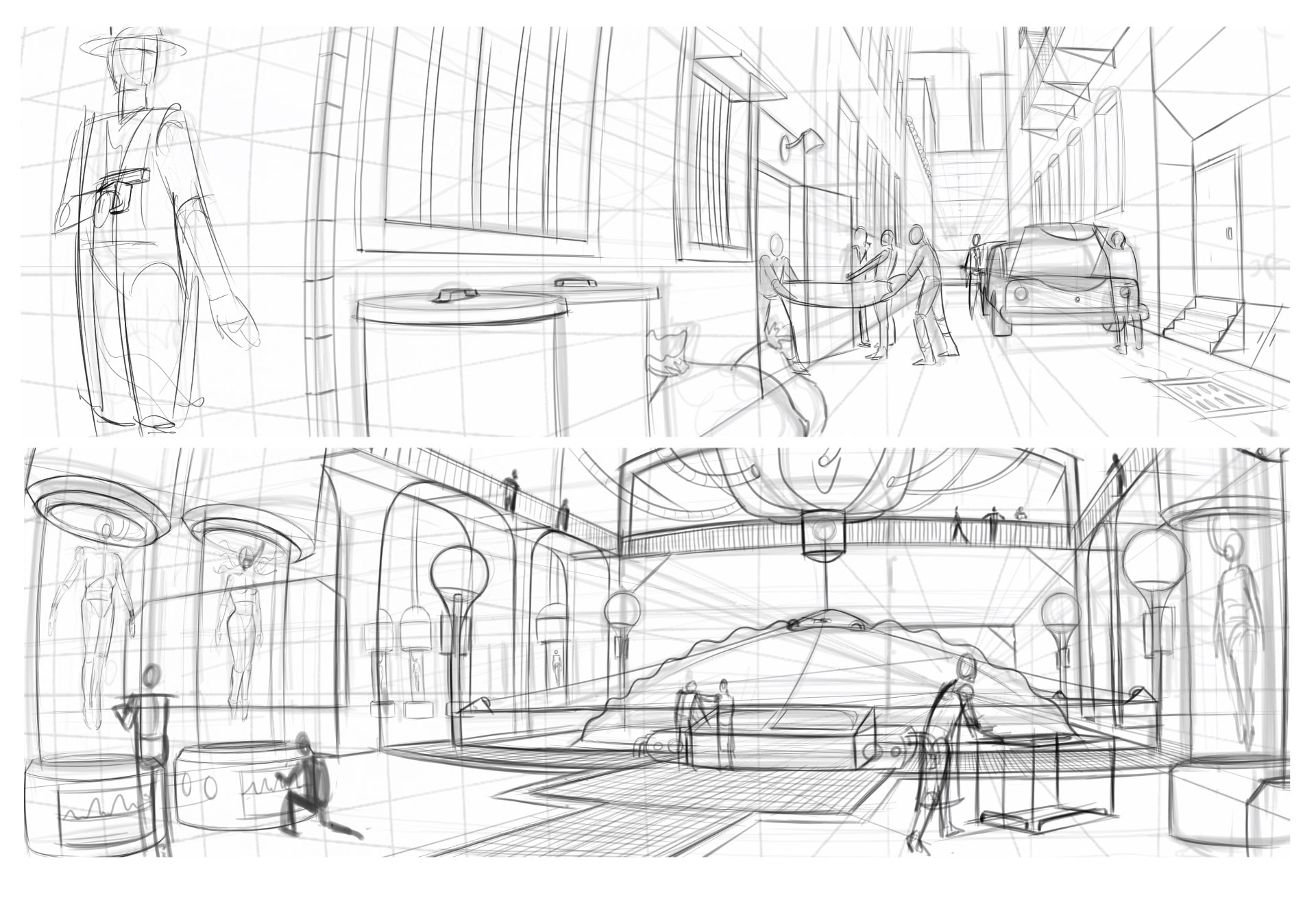 Five Point Perspective Concepts