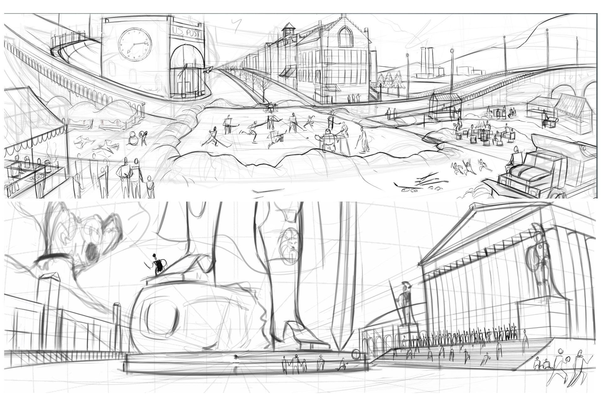 Five Point Perspective Concept