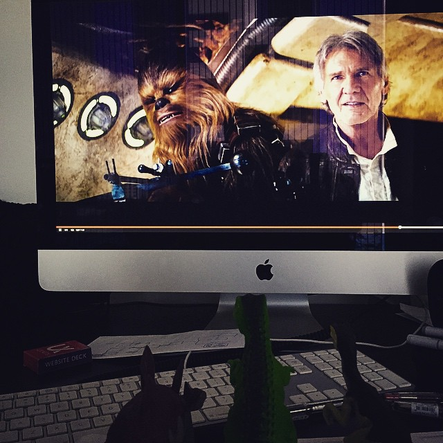 #Theodore, stop watching the #new #starwars #trailer and get back to #work. This is the 30th time you watched today.