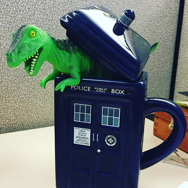 For the last time @theodore_ruxin , that is not a real #tardis , now get out of my #coffee and let's get back to work, we have #deadlines