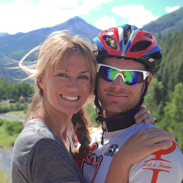 My beautiful wife Brenna and I on a ride in Colorado