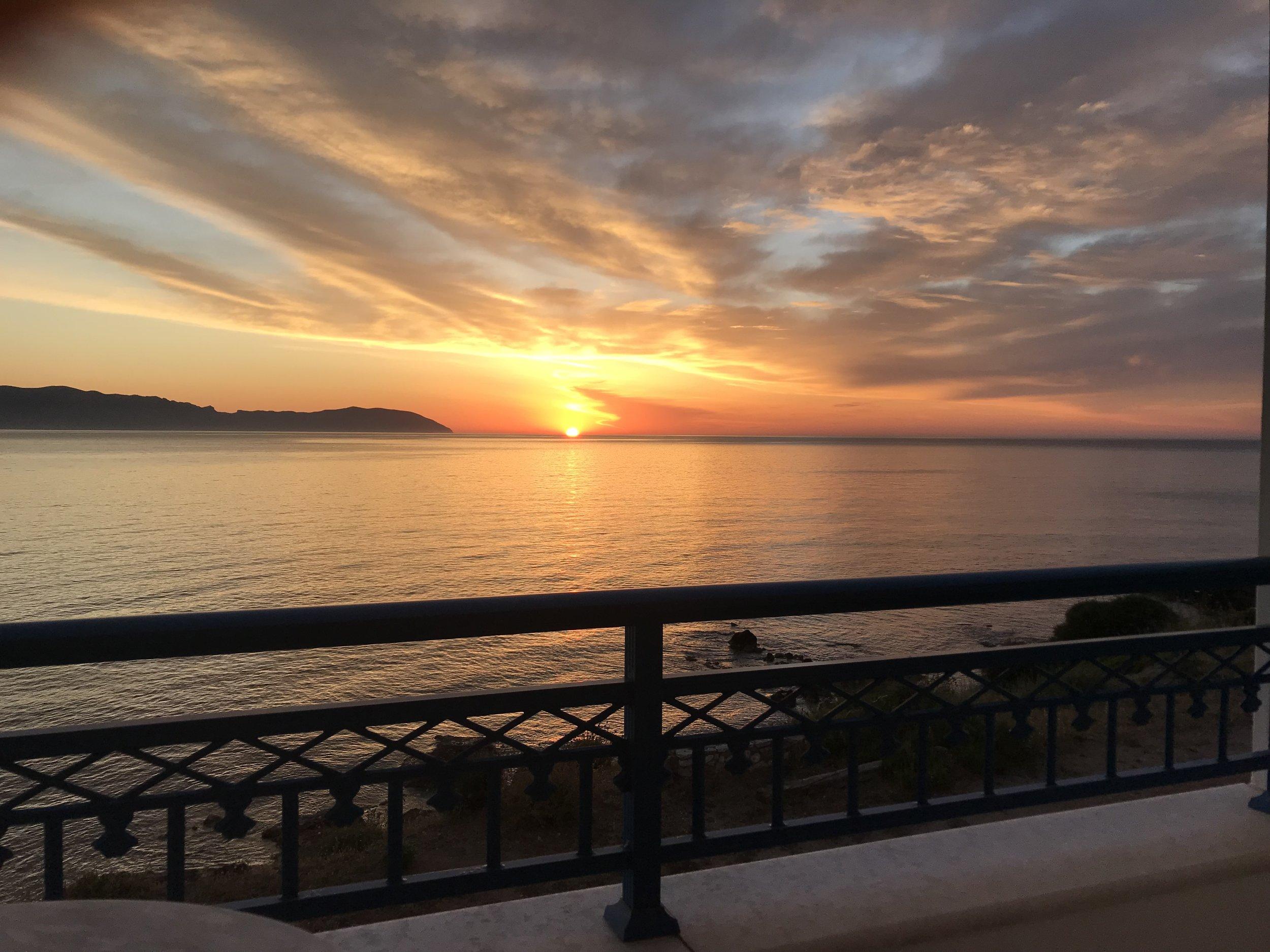 Sunrise from Hotel on Kythera